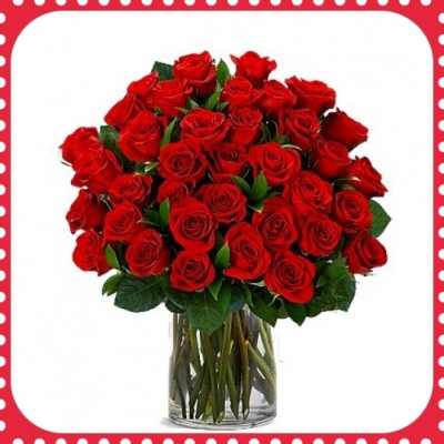 FR36 36 Red Roses with vase