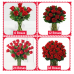 Red Roses with vase