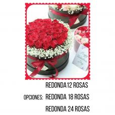 RC07 Round Box Roses