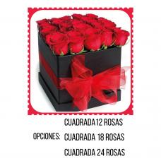 RC08 Square Box Roses