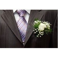 BO01  Boutonniere of Rose