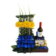 FW02 Wine and Blue Roses