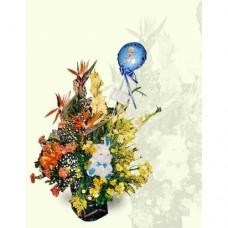 AN0035 Boy Mixed Flowers