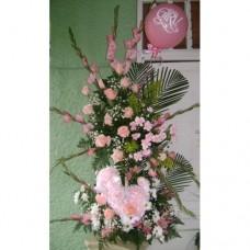 AN0020 Girl Flowers