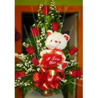 RO30 8 Roses and Teddy