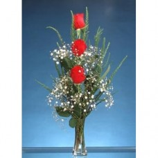 FR003 Vase with 3 Roses