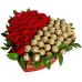 BHF10  Heart Roses and Ferrero