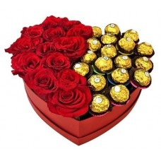 BHF10  Heart Roses and Ferrero