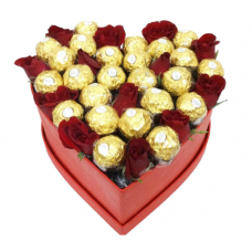 BHF20  Heart Roses and Ferrero