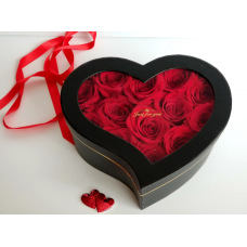 BHB20 Roses Heart Box