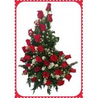 AR70 24 Roses Flowers