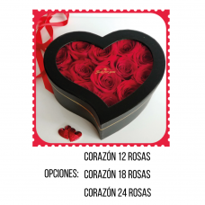 RC03 Roses Heart Box