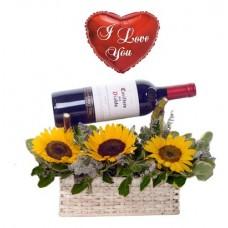 FW01 Girasol con Vino