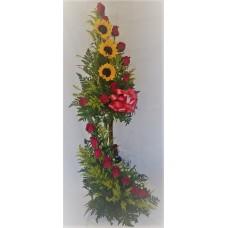 RG10 Roses Sunflower Log